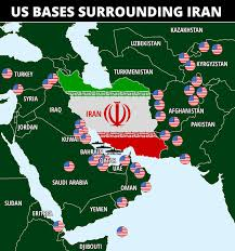 U.S. military bases surrounding Iran